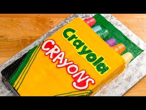 Crayola Crayons Cake (Back to School) from Cookies Cupcakes and Cardio - YouTube