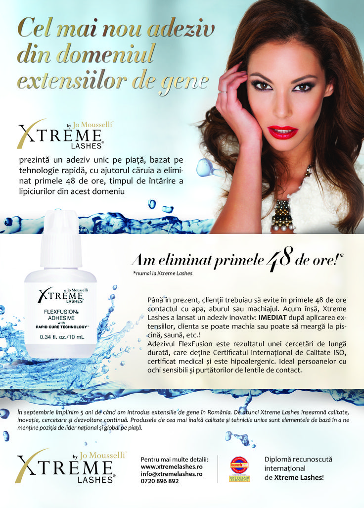 Xtreme Lashes in Jurnal de Estetica Iunie 2014