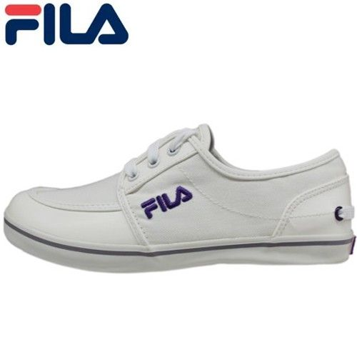 FILA Womens White Canvas Casual Sports Footwear Sneakers - Blue Products- - TopBuy.com.au