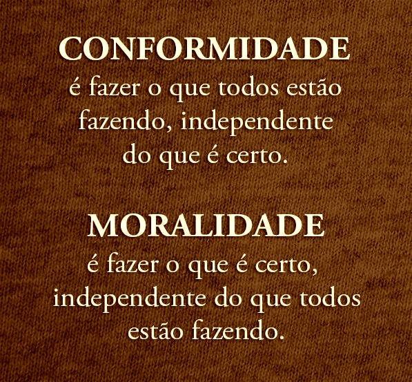 """Conformidade e moralidade e aí o que tá ganhando por ai? """"Tudo me é permitido"""", mas nem tudo convém. """"Tudo me é permitido"""", mas eu não deixarei que nada domine. 1 Coríntios 6:12"""