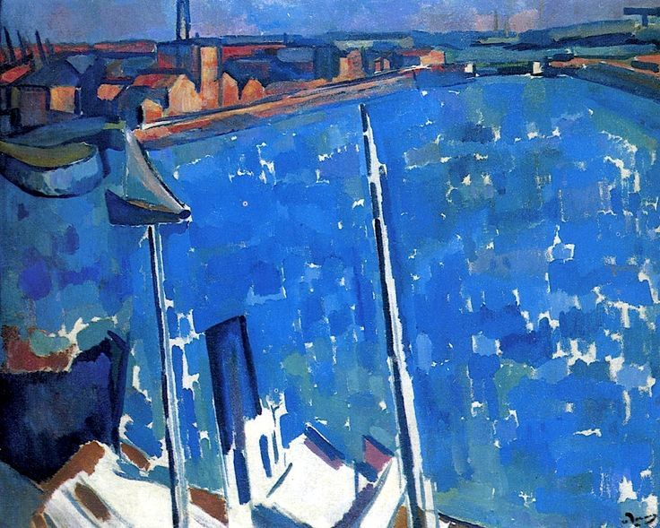 "terminusantequem: "" Andre Derain (French, 1880-1954), The Harbour; Le Havre, 1906-07. Oil on canvas, 72 x 90.5 cm """