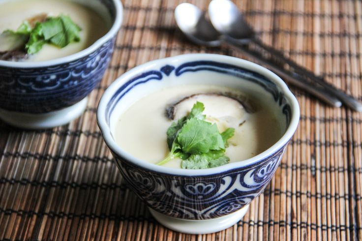 Chawanmushi (Savory Egg Custard with Shrimp & Mushrooms) Recipe