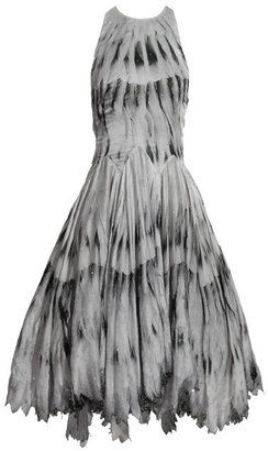 ShopStyle: Alexander Mcqueen Backless full length feather dress