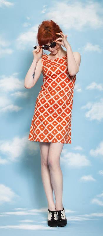 'True Romance Dress' - Orange & Blue  http://shop.dangerfield.com.au/girls/clothing/dresses/bl-true-romance-dress.html