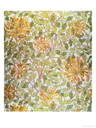 """William Morris, """"Honeysuckle"""" wallpaper 1883. I am pretty much in love with his prints."""