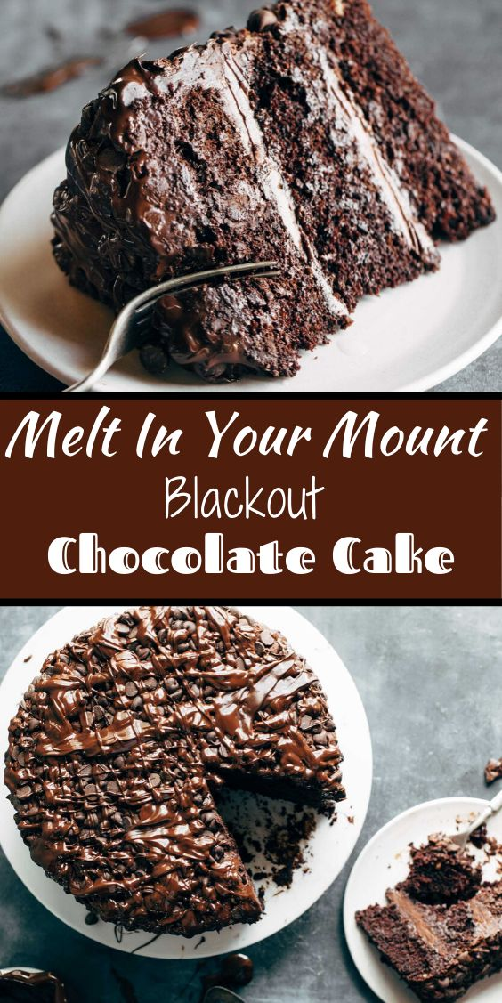 Easy Blackout Chocolate Cake – Backen
