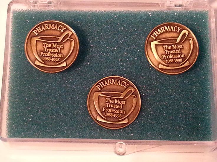 1988-1998 Schering Pharmacy The most trusted profession Cufflinks Tie tack set
