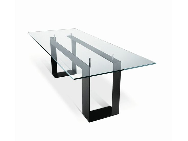Mesa retangular de vidro | T.D. Tonelli Design