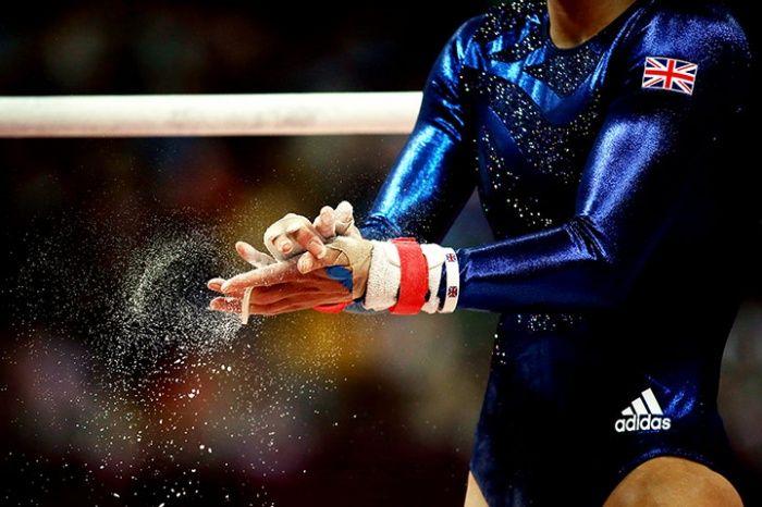 Team GB gymnastics women's team in action.