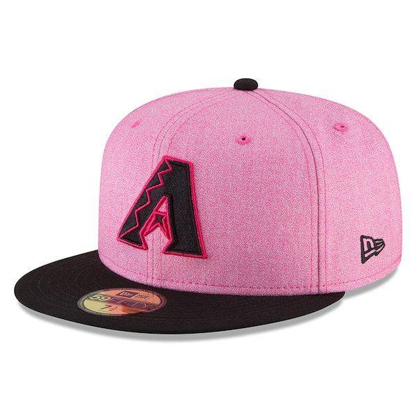 Men s New Era Pink Black Arizona Diamondbacks 2018 Mother s Day On-Field  59FIFTY Fitted Hat 5a0d2942bb40