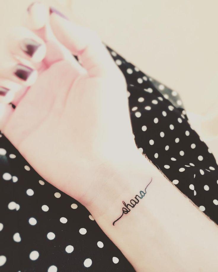Ohana wrist tattoo.