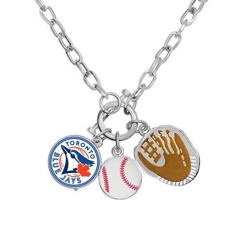 Toronto Blue Jays MLB Ladies Charm Necklace