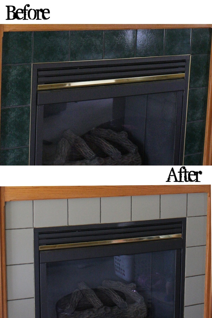 How to Paint Fireplace Tiles