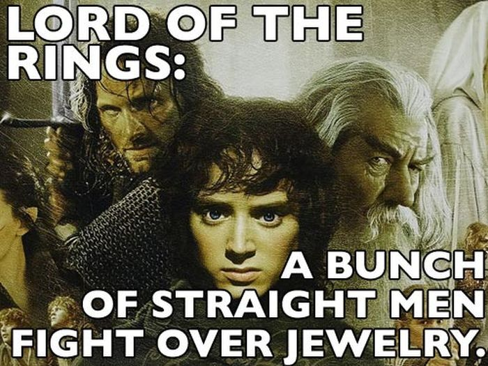 A Bunch Of Straight Men Fight Over Jewelry, I Will Never Watch The Lord Of  The Rings With A Straight Face Again