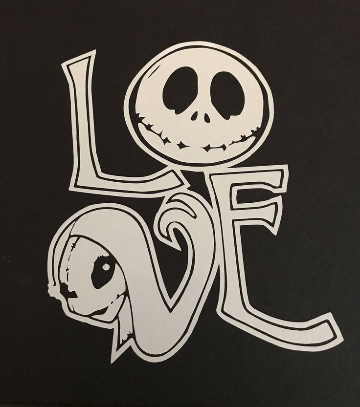 Nightmare Before Christmas Decal / Sal and Jack Love