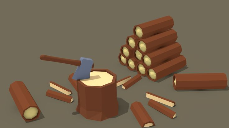 Lowpoly logs by Gottor