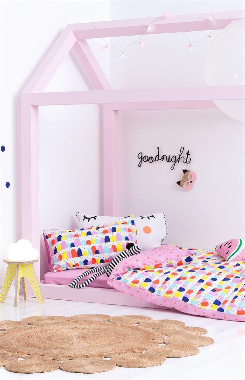 Pink candy kids room - queen quilt cover, SWEET SPOT