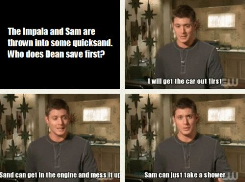 """Jensen Ackles interview - 2008 :D I love that he just says """"I"""" and not """"Dean"""", even though the question is specific to Dean. << SAM CAN JUST TAKE A SHOWER lol"""
