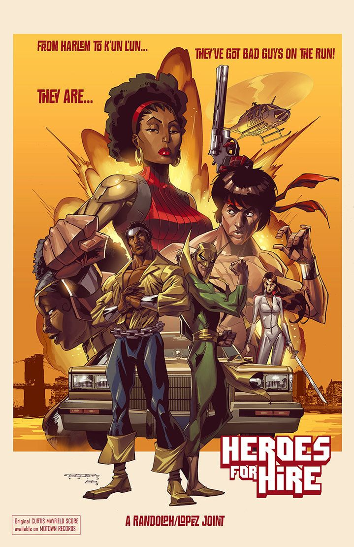 Heroes for Hire by *KharyRandolph on deviantART