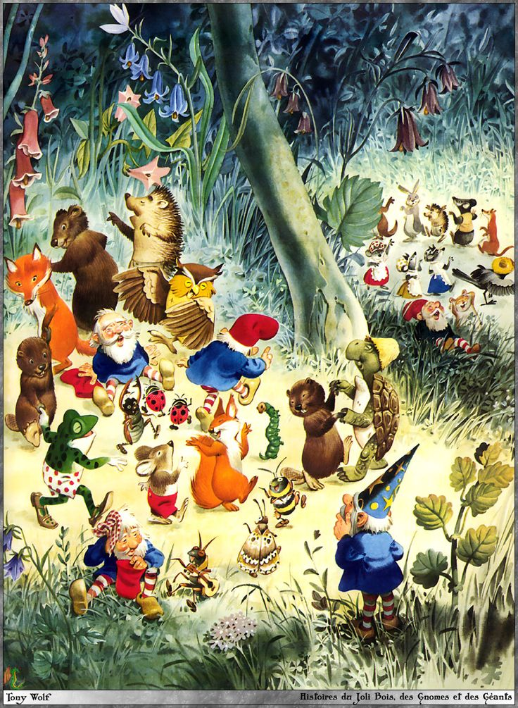 Gnomes, elves and fairies by Tony Wolf / Antonio Lupatelli #MinaVaan