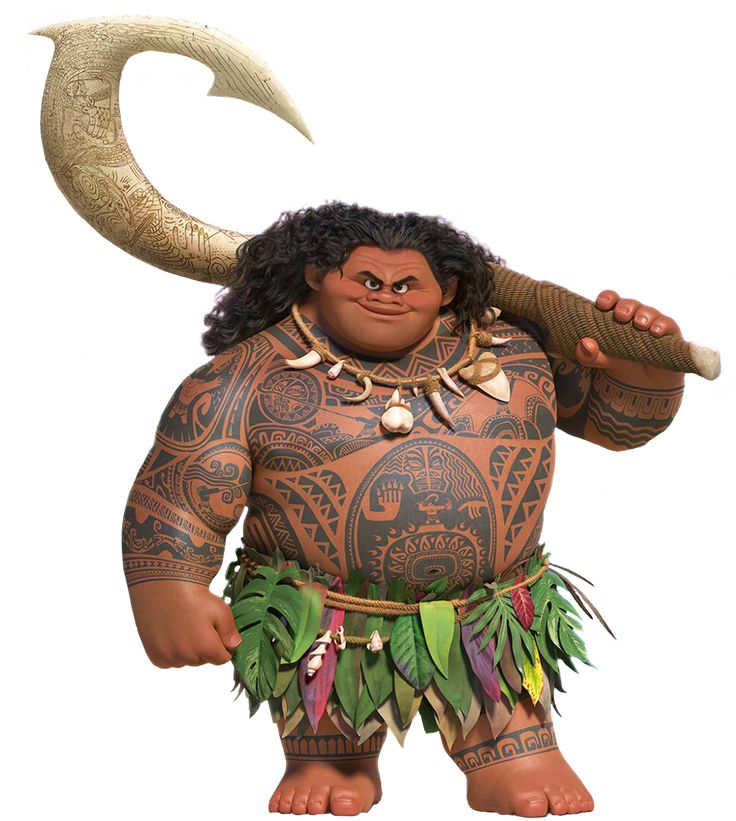 Maui is the deuteragonist of Disney's upcoming 2016 animated feature film, Moana. Maui is a demigod of South Pacific legend. Equipped with a giant, magical fish hook that grants him shape-shifting abilities, Maui was amongst the most acclaimed figures of Oceania history, and credits himself for a number of the good things to have happened to mankind over the centuries.