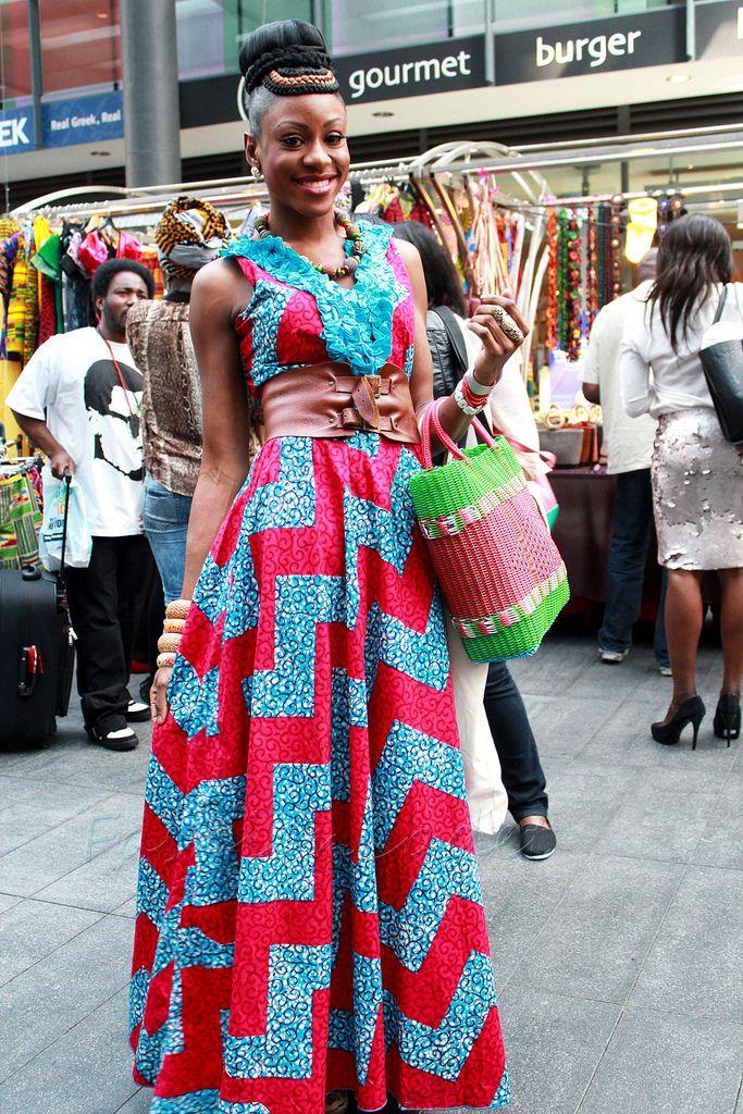 maxi ankara dresses | ... Style: Styles for 'ankara': Chevron V neck 'ankara' maxi dress