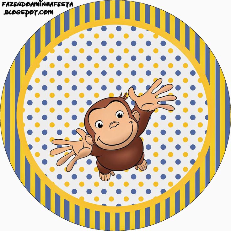 Curious George Free Printable Candy Bar Labels.