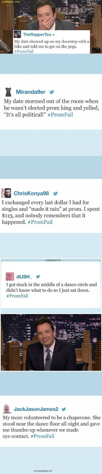 Top 5 #Funny Tweets About #PromFail ft. Jimmy Fallon