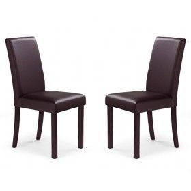Krzesło Nikko Halmar ciemny brąz zestaw 2 sztuk