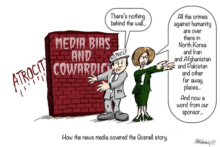 How the news media covered the Gosnell story - a cartoon.