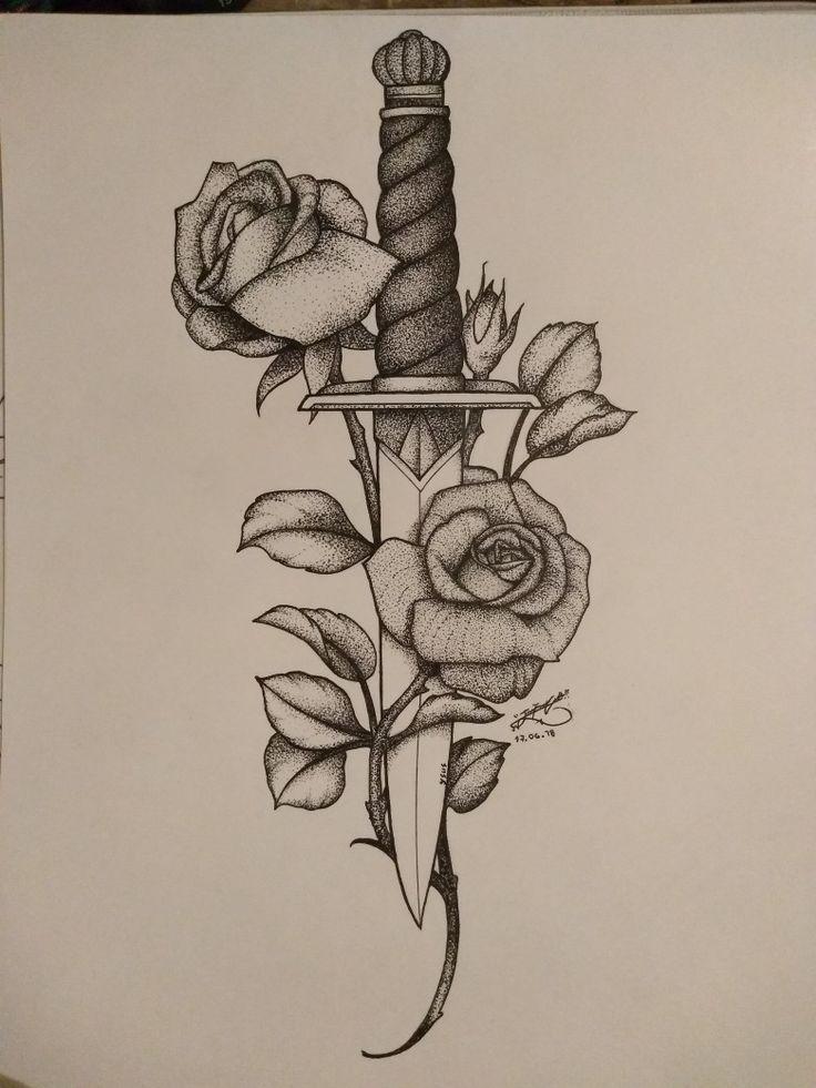 Messer Rose | Tattoo-Idee   – Tattoo