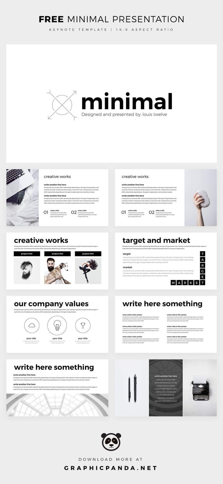 11 best free keynote templates graphicpanda images on pinterest free minimal powerpoint template create your ppt easy toneelgroepblik Choice Image