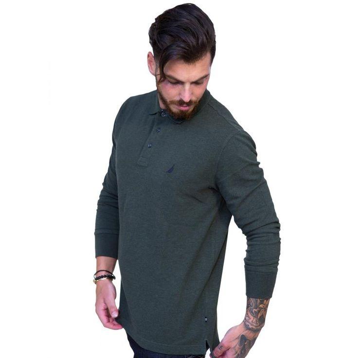 NAUTICA Ανδρική ανθρακί πλεκτή μπλούζα