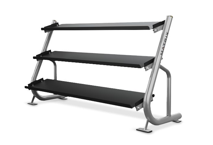 3-tier Flat-tray Dumbbell Rack (1.8 m / 6') MG-A689