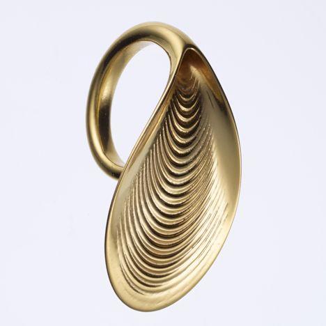 Ross Lovegrove 3D-printed gold jewellery