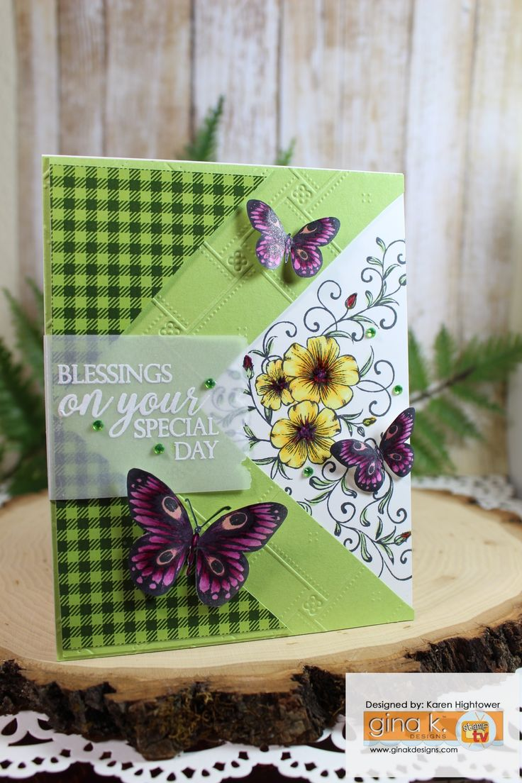 The coloring book of cards and envelopes flowers and butterflies - Stamp Tv Kit Friday Funday Tutorial Flowers Butterflies