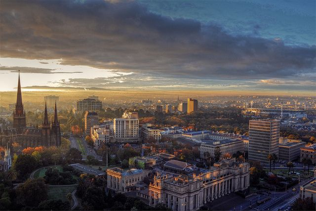 East Melbourne Panorama by Atilla2008, via Flickr