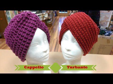 Tutorial: Cappello Turbante ai ferri e all'uncinetto - spiegazione punto costa americana ai ferri - YouTube