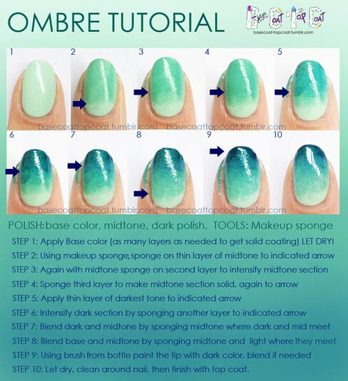 As requested here is a tutorial on how I create the ombre... - BASE COAT TOP COAT