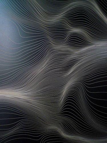 Grid Distortion Alu 027 by Marius Watz.