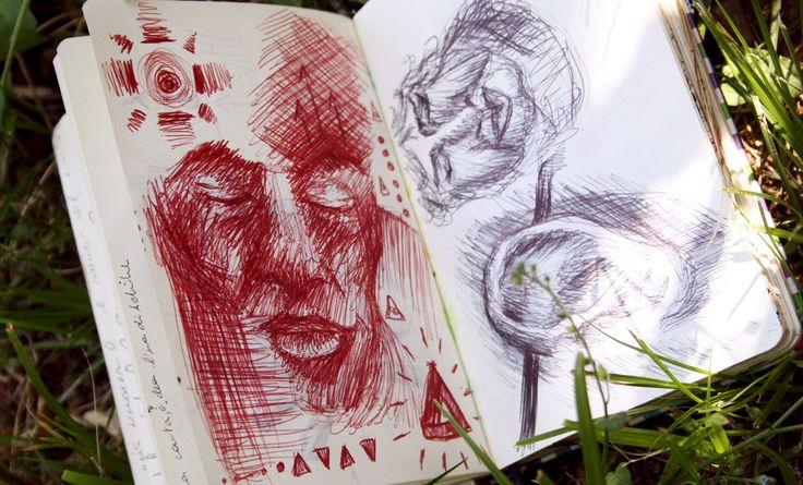 △△△ #portrait #man #face #sketch #sketchbook #draw #Dreams #pen #red #blue #ink #accademyofart #art #comic #accademy #Bologna #Shidrawing #SHI #change #move #train #routine #boring #travel #trenitalia