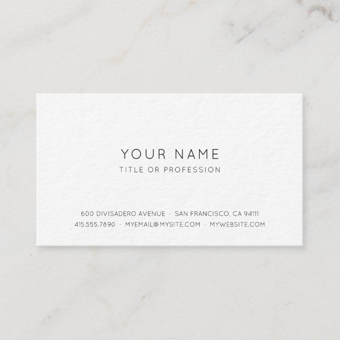 Professional Simple Business Card Zazzle Com Simple Business Cards Professional Business Cards Templates Modern Business Cards