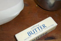 Whipped Butter.  This is so simple!  I added a bit of Garlic Herb seasoning for color and flavor... YUM!!!