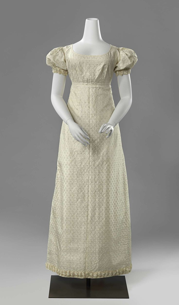 Regency fashion plate the secret dreamworld of a jane austen fan - 1822 France Or The Netherlands Probably Wedding Dress Silk And Cotton