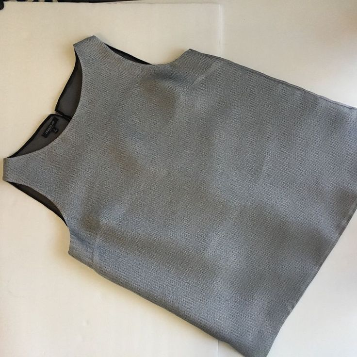 EUC Lafayette 148 New York Silver Shell Sleeveless Scoop Neck Tank Top Blouse 8 #Lafayette148NewYork #Tank #Cami #fashion #womens #office #top #blouse #ebay #seller #lafayette #148 #luxury #gray #grey #silver #metallic #textured #shirt #ootd #casual #chic #summer #thebudgetcafe
