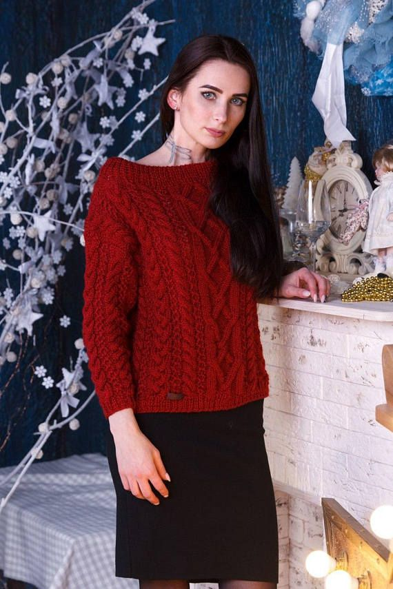Wool sweater Women's sweater Hand knitted sweater Hand