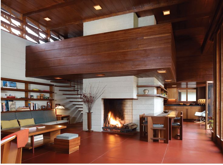 One Floor House Architecture By Frank Lloyd Wright