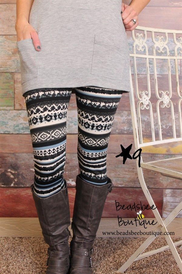 Fleece lined print leggings!! Adorable! These are so cute.....I want some just like this :)