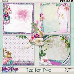 Tea for Two Stacked papers