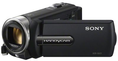 Sony DCR-SX21 [ Description :0.49 megapixel (Video), 0.56 megapixel (Image), with Sony lens, Optical Zoom: 57x ]  [ Free: Free : 4GB SD Card + Carry Case  ]  [ Price: Rs. 9,700 ]